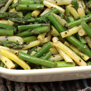Asparagus, Green Bean, and Wax Bean Salad