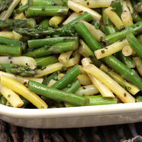 salad rib steaks with spice rub and green bean salad asparagus green ...