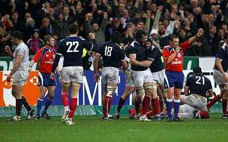 Brian Moore Martin Johnson contingency set up on intensity England showed opposite France