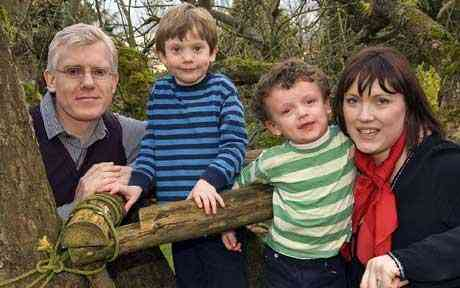 Isa savers Elaine and Ian Francis from Somerset with their children