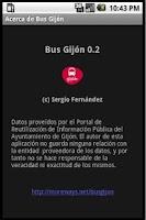 Screenshot of Bus Gijon