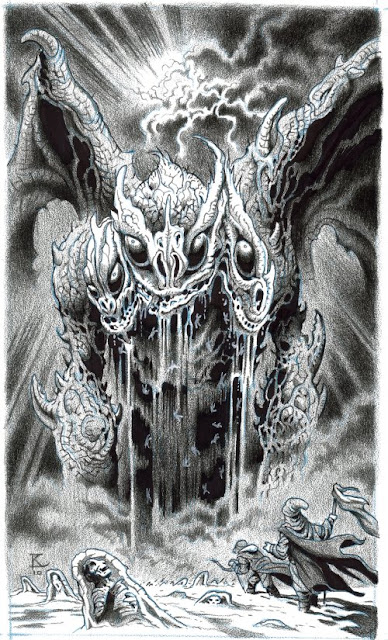 "Original Artwork for ""Purging Cocytus,"" by Kent Burles"