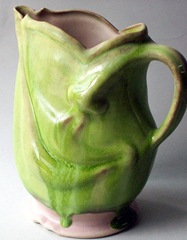 green face pitcher