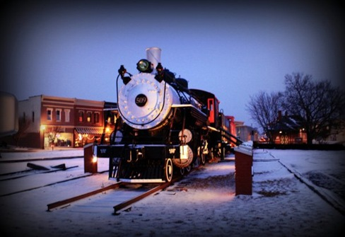 ayla's cville depot in snow