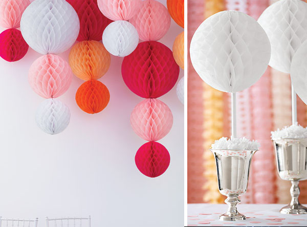 Ideas para decorar con bolas de papel nido de abeja blog - Bolas decoracion ...