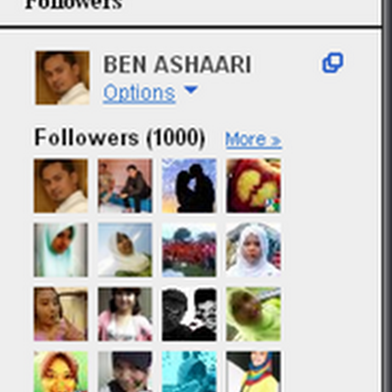 1,000 sudah FOLLOWER ..