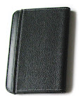 mCover Black Leather Folio Cover Case for Amazon Kindle 3