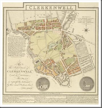 1805 Clerkenwell Map