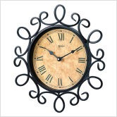Bella Vintage Hand-Forged Wall Clock in Wrought Iron[1]