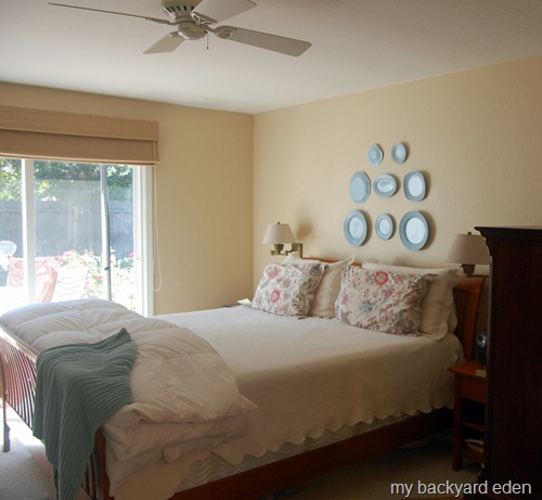 Master Bedroom Plate Wall