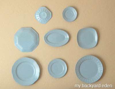 My Master Bedroom Plate Wall