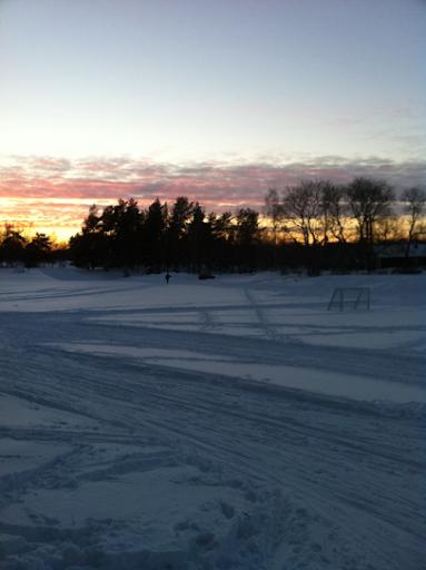 Solnedgång vid Ågesta