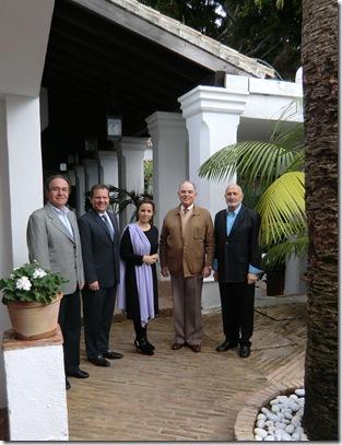 Francisco Romero, Carlos Zabala, Rosa Calvente, Conde Rudi Schönburg y Francisco Cózar