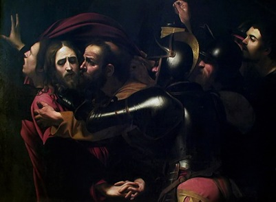 Kiss of Judas, Caravaggio 1602
