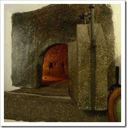 Stone baker's oven door