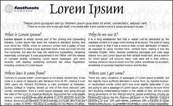 Lorem Ipsum 外文假文產生器