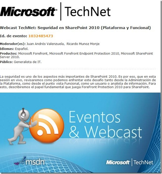 Webcast Viernes 29 de Abril