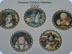 EWE N ME PRINTABLES  vintage snowman bottlecaps
