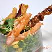 02-2011 - Salade met yakatori, kanimi krabpoten en pindadressing 曰本蟹肉雞肉生律.JPG