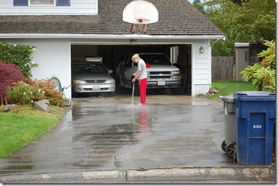 cleaning the driveway 003