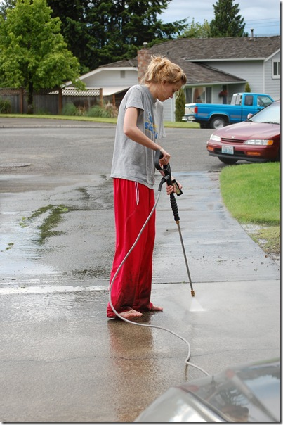 cleaning the driveway 001