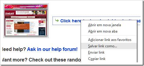 Salvar link como