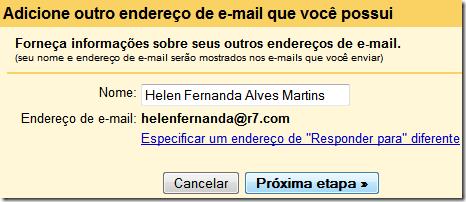 Adicione outra conta de e-mail