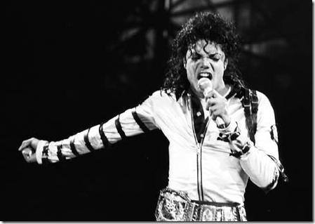 Michael Jackson cantando