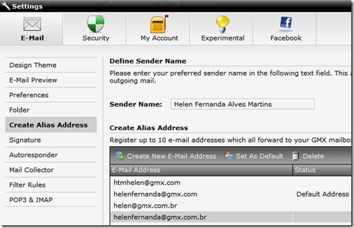 10 e-mails alias
