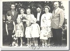 Pias mormor og morfar med børn svigerbørn og børnebørn