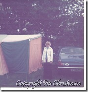 Vort nye hjem på campingpladsen 1976