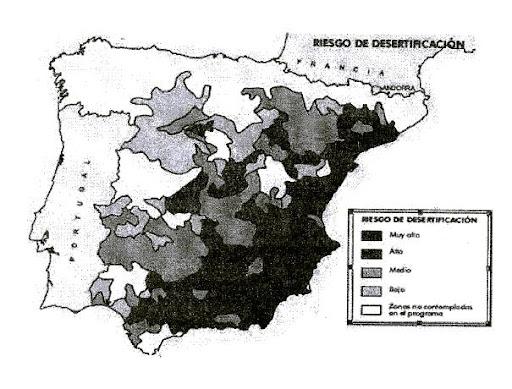 Riesgo de desertificación en España