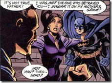Talia between Ra Al Ghul and Batman