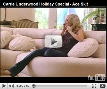 Carrie Underwood's Dog Ace. This is so cute, and you get a peek at her house