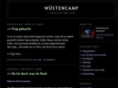 Florian's Wüstencamp-Blog