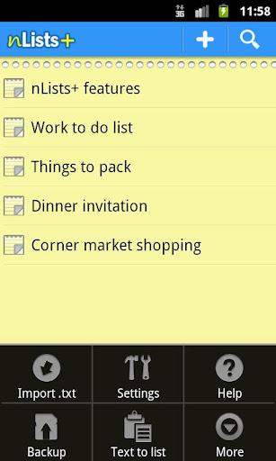 n Lists +
