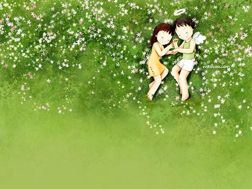 Foto Bazar: amor - parejas - niños - tierno - ángeles - flores ...