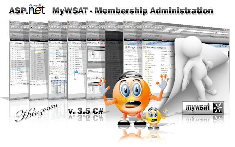 Click to view more screenshots - MyWSAT 3.5 - asp.net membership management and website administration tool