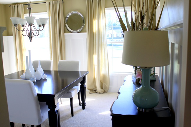 dining room, interior, board and batten