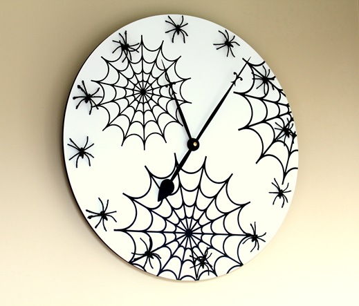 spider web clock