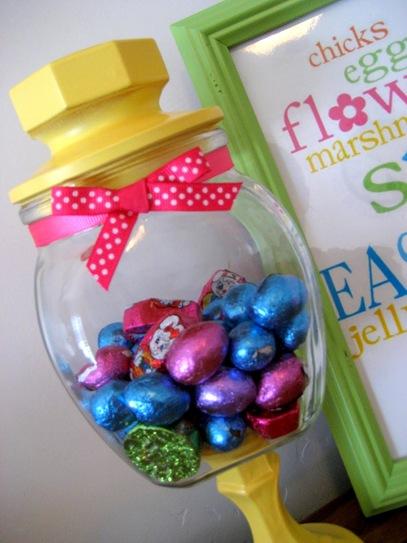 spring candy jar