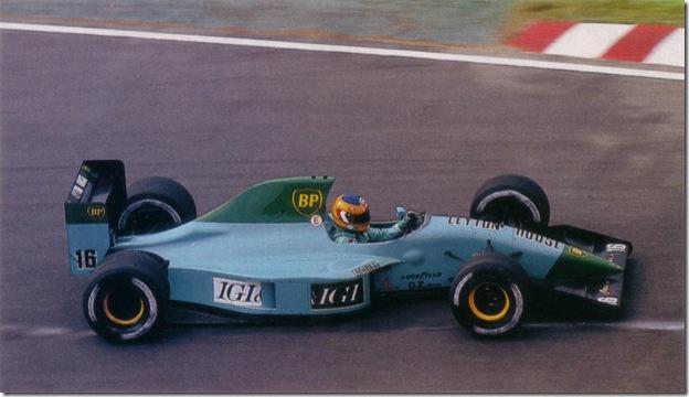 F1DataBAse - Karl Wendlinger, Leyton House Ilmor - Japão 1991