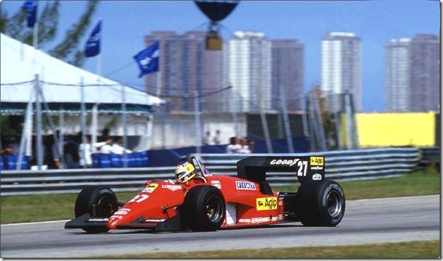 F1DataBase - Michele Alboreto, Ferrari - Brasil 1985