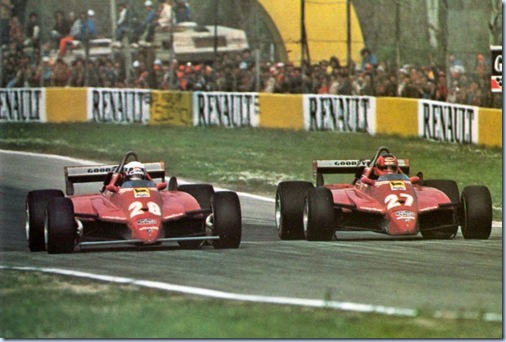 Disputa de Gilles Villeneuve e Didier Pironi em San Marino 1982