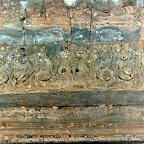 "Thommanon - ""Vishnu Gajendramoksha"" door lintel on the ""mandapa."" This illustrates the story of Vishnu saving Gajendra, Lord of the Elephants, from a vicious crocodile (seen below) that attacked him while he was drinking in a lake. Vishnu dragged the elephant out with the croc still attached and opened its jaws with a touch from his magic wand. But wait...is there a *mistake* in this carving?  Gajendra the elephant is shown with three heads...the attribute of Airavata, the mount of Indra. Oops? Siem Reap, Cambodia http://www.Devata.org"