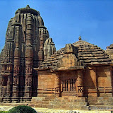 "The base of Ranarani temple's main tower features eight guardians or ""dikpalas"" facing the eight compass points."