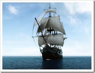 masted ship