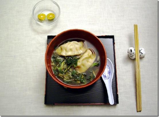 Gyoza soup 1