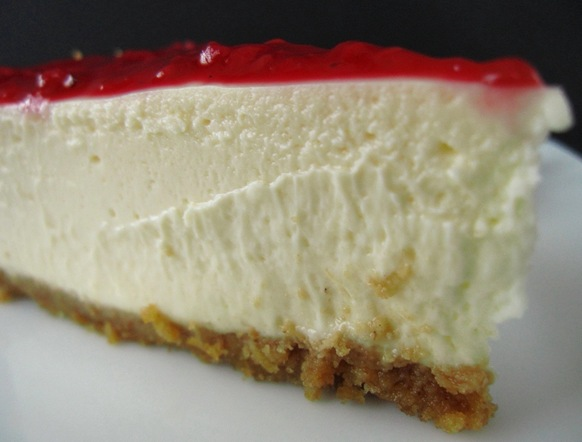 ... the Best: The perfect sour cream cheesecake & fresh raspberry sauce