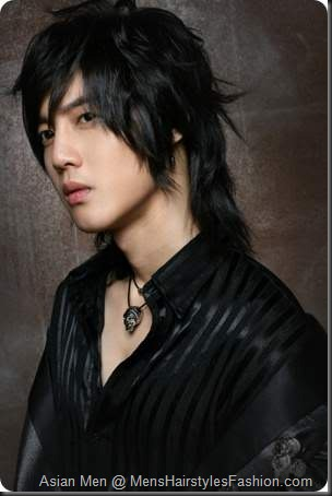 Asian Men Medium Length Hairstyle